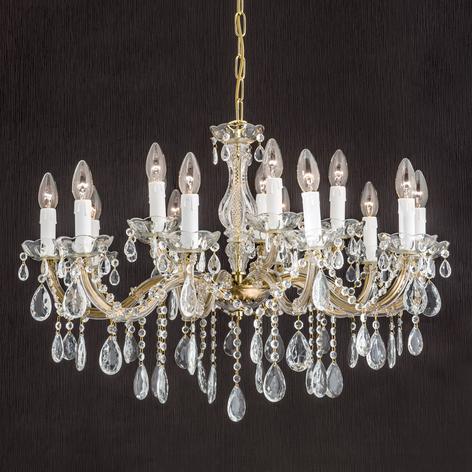 Dolores-kattokruunu kristalleilla, 15-lamppuinen