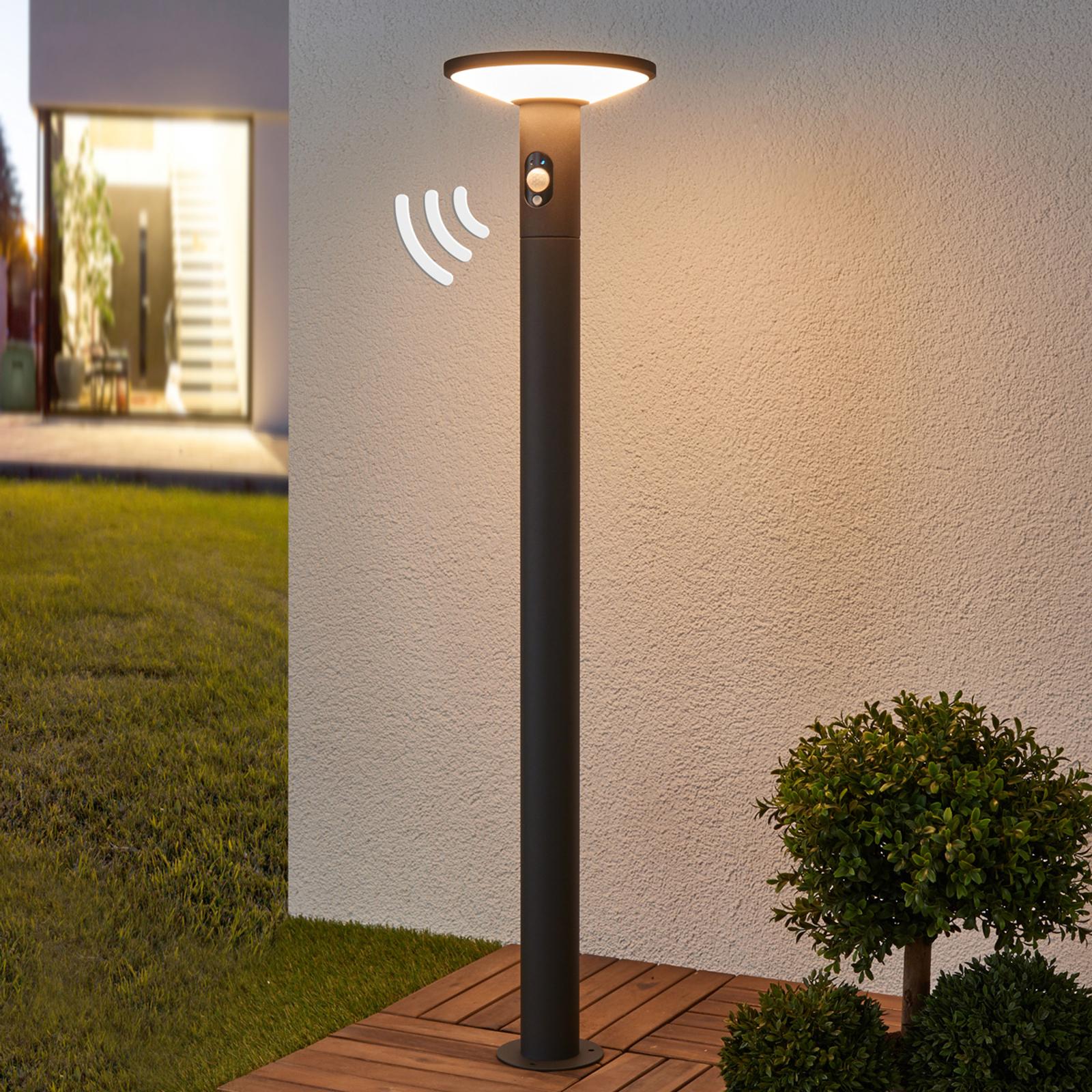 Borne lumineuse LED Jersy, panneau solaire, 100 cm
