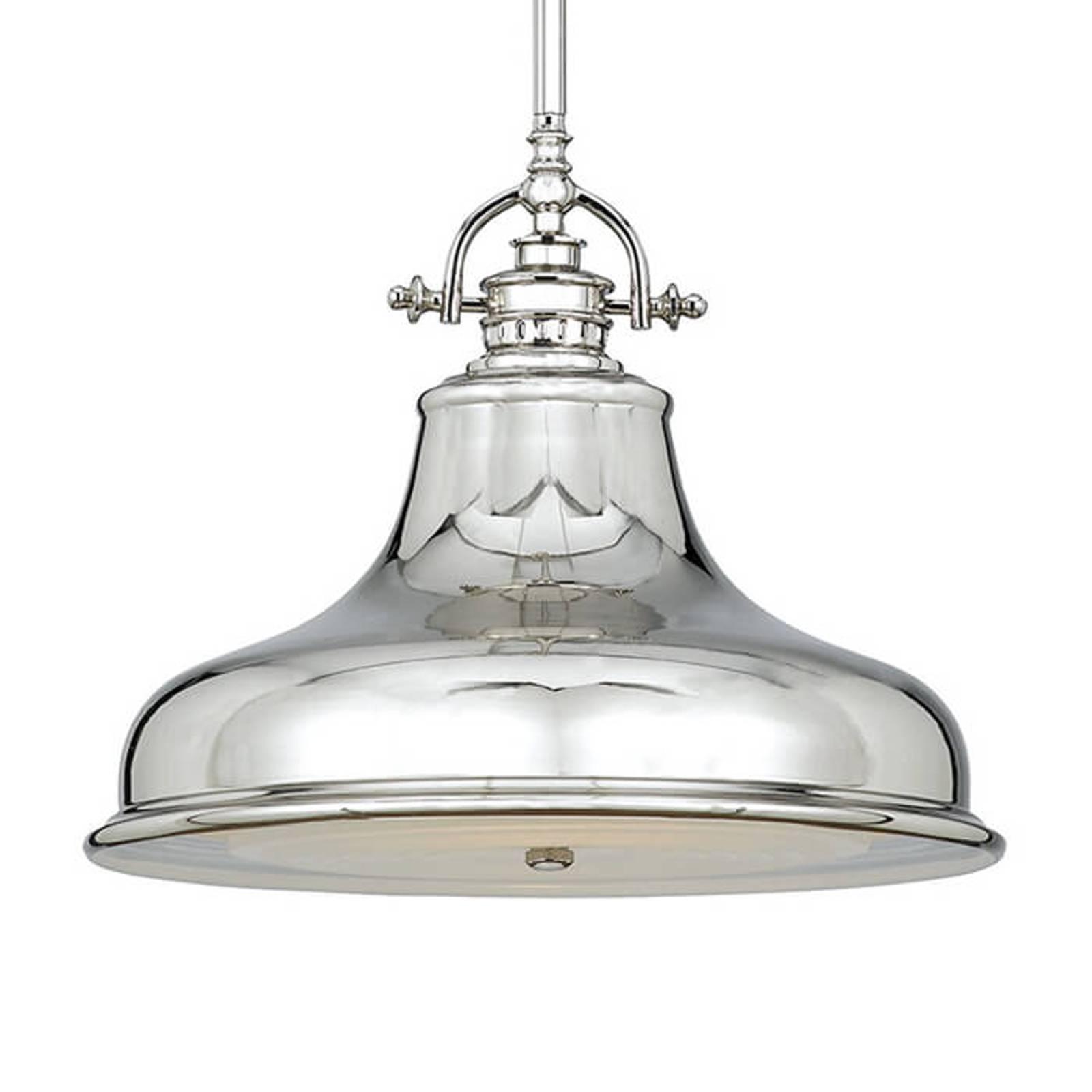 Suspension Emery 1 lampe argentée Ø 34,3cm