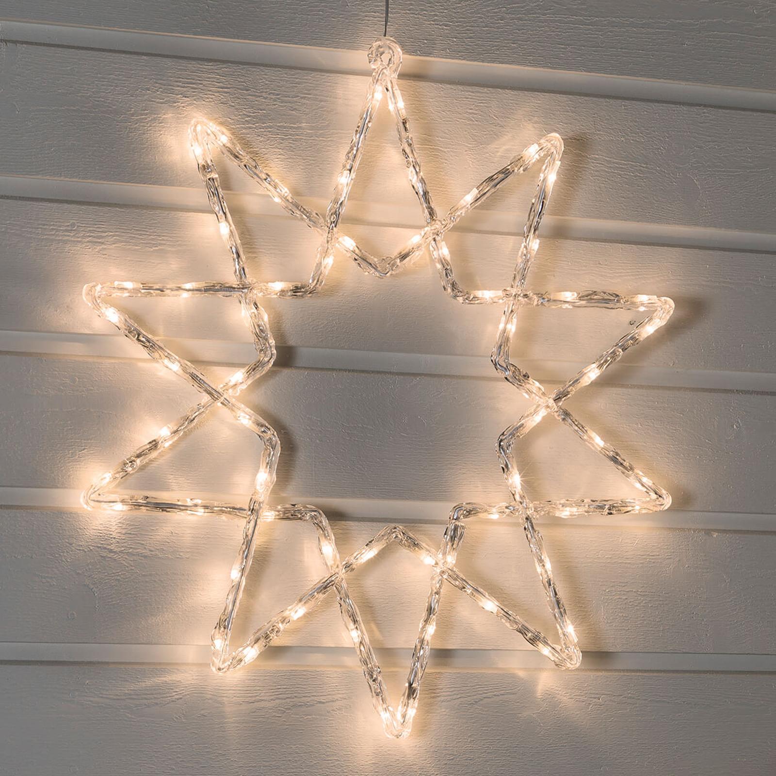 Jasno świecąca gwiazda LED, zewnętrzna