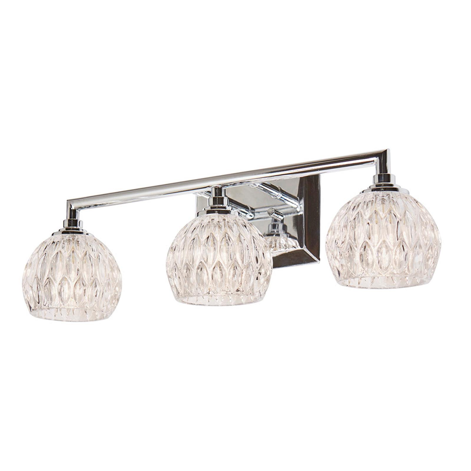 Serena væglampe til badeværelset, 3 lyskilder