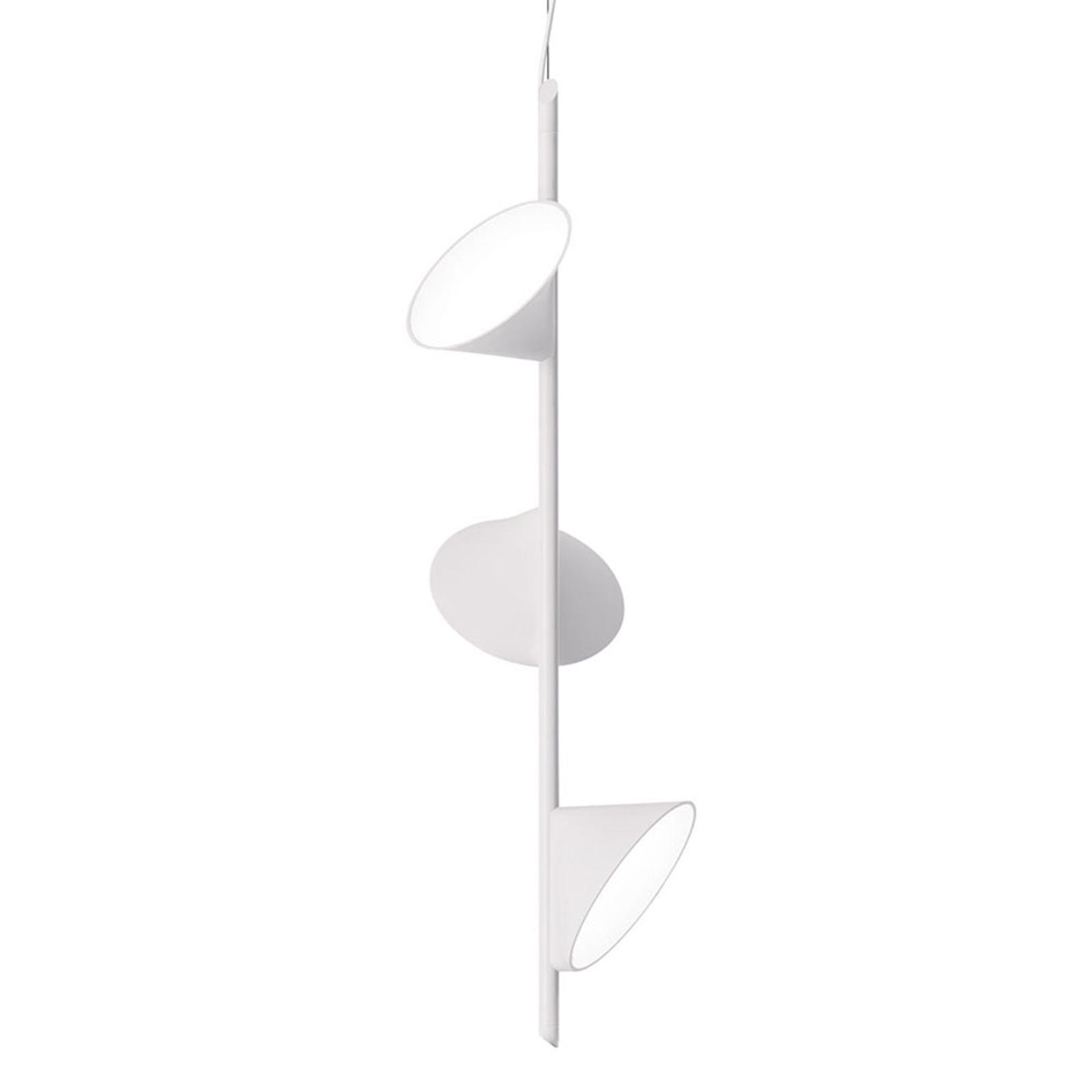 Axolight Orchid LED-Hängeleuchte, dreiflammig weiß