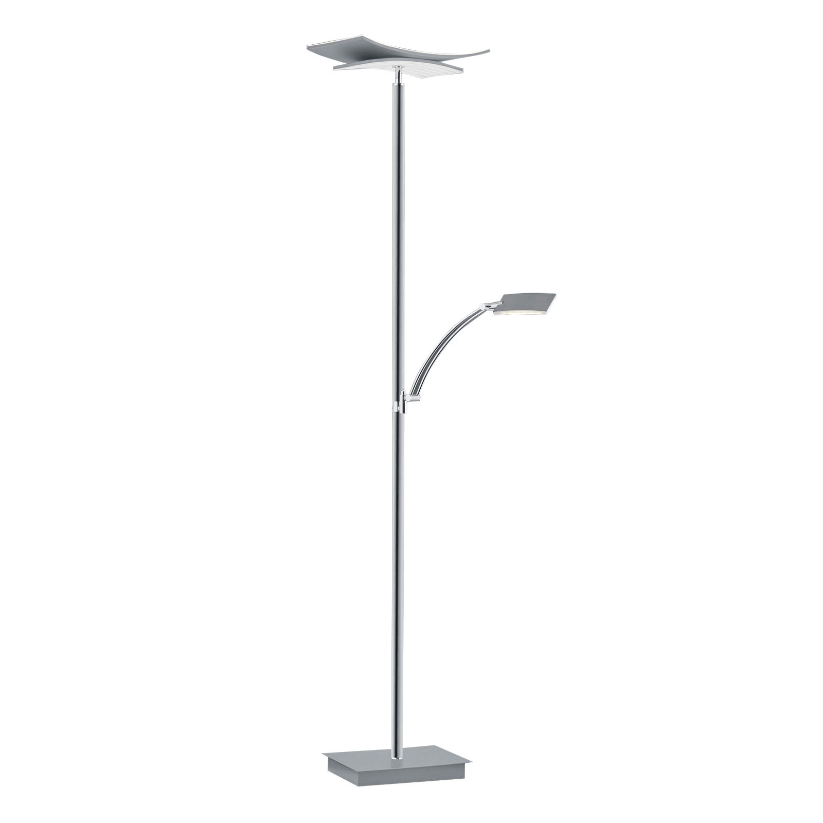 B-Leuchten Liberty lampadaire LED liseuse nickel