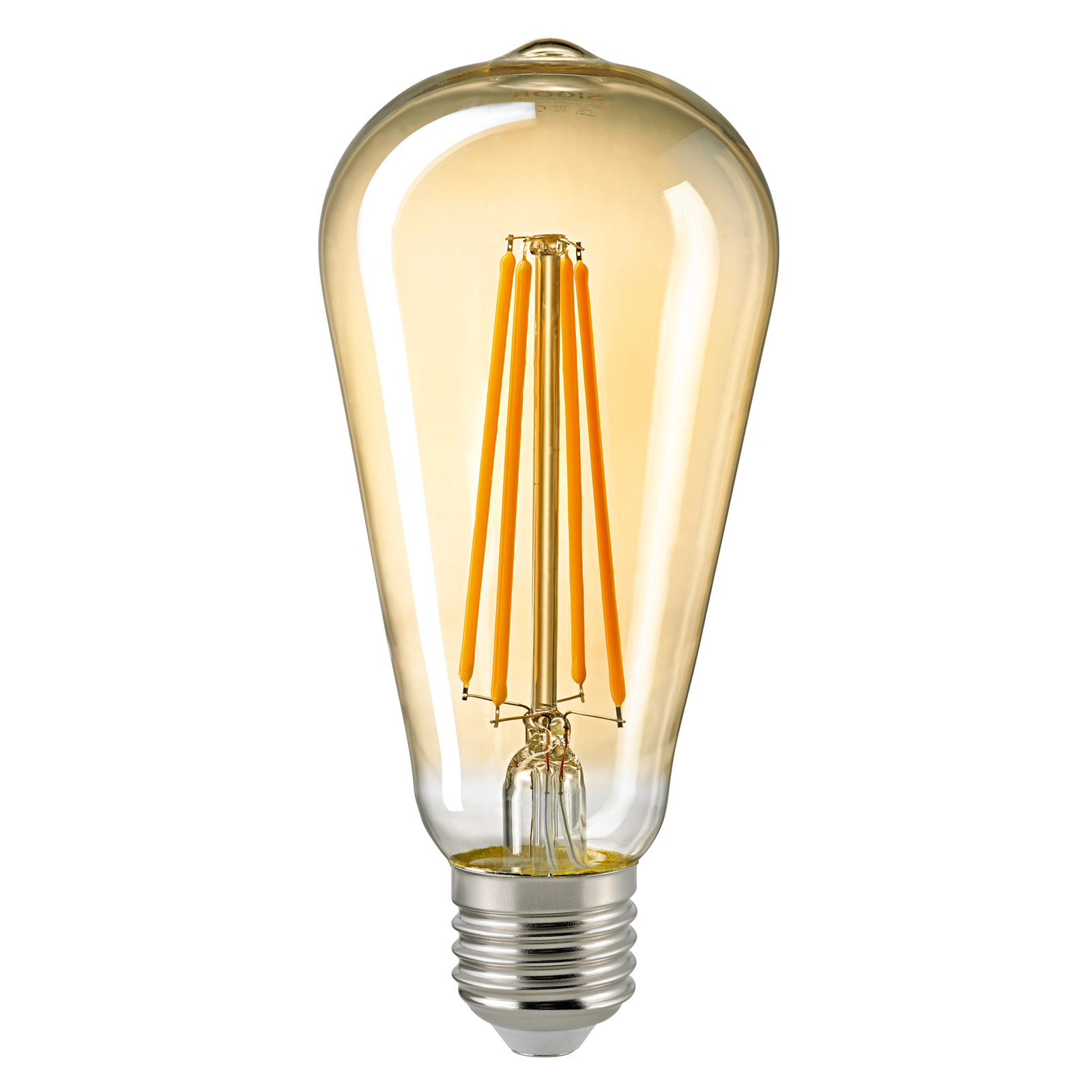 E27 ST64 4,5W Filament Rustika LED-pære, guld