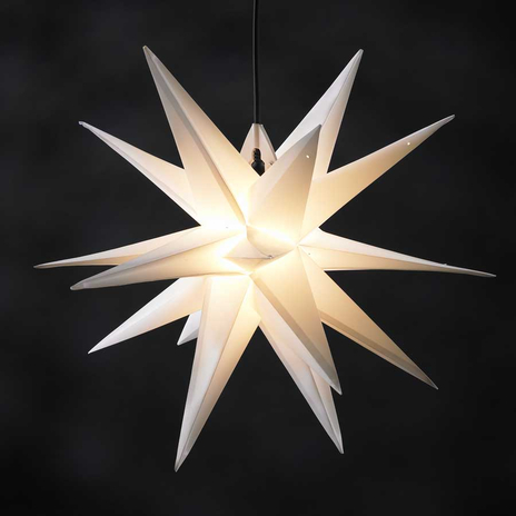 Gwiazda Ganesha 18-ramienna zewnętrzna, biała