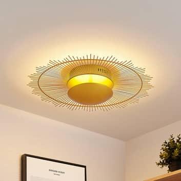 Lindby Solis lampa sufitowa LED, złota