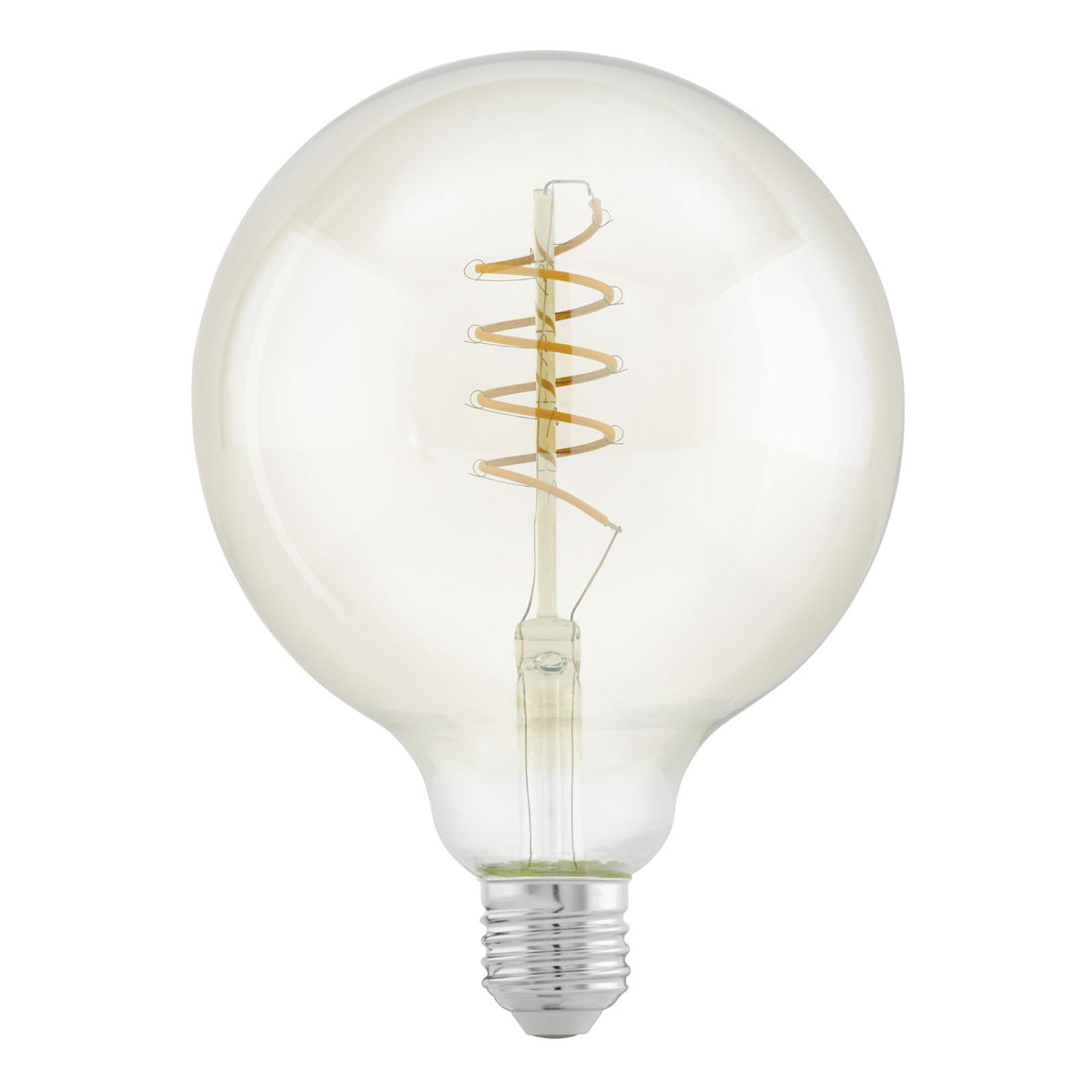 LED-Globelampe E27 G125 4W Spiral, warmweiß, klar