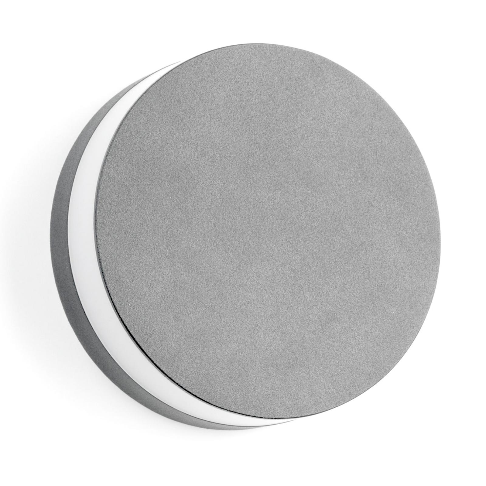 BRUMBERG 10030 LED-Außenwandleuchte, rund, silber