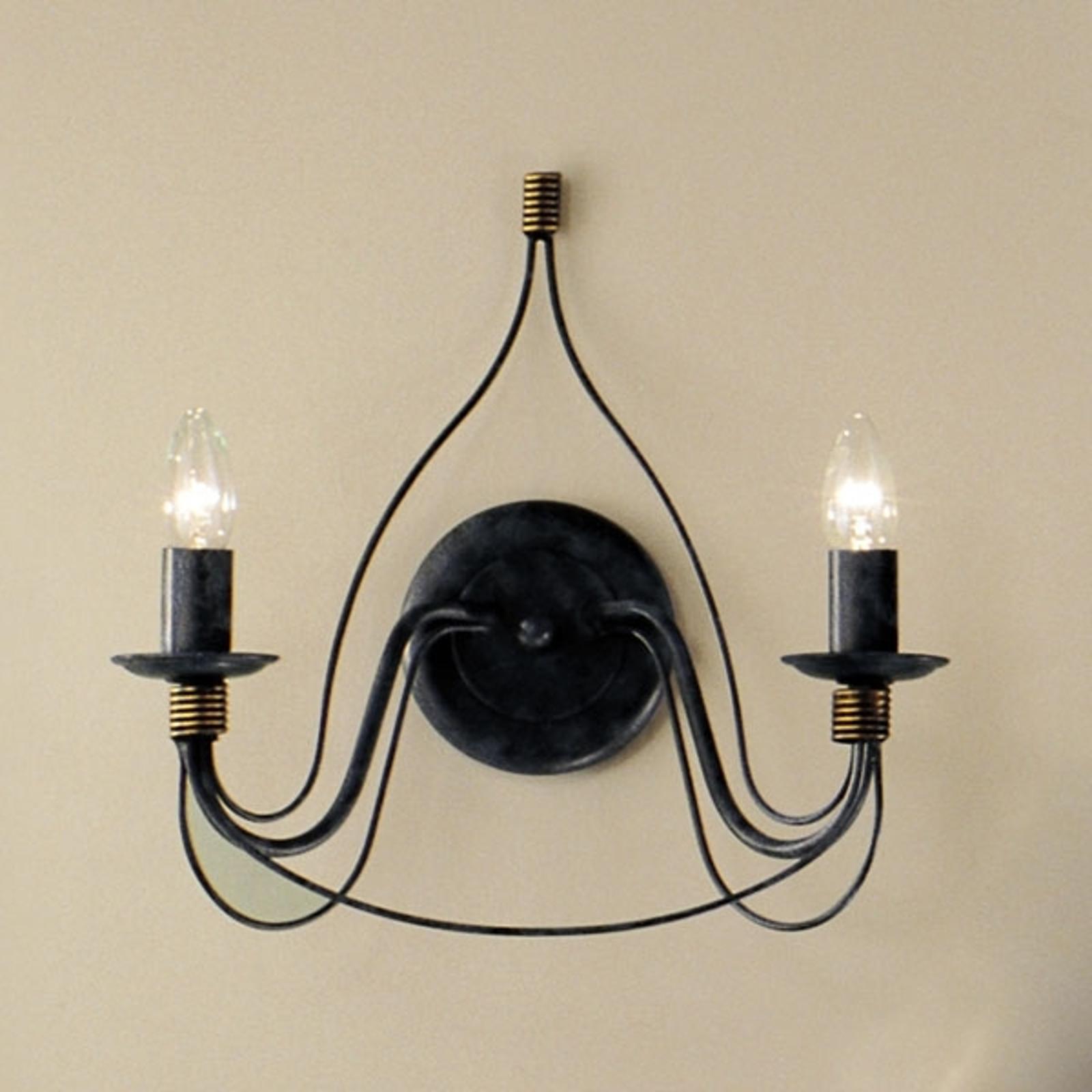 Applique FILO à 2 ampoules, bleu noir