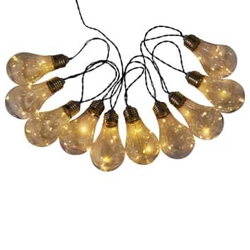 LED-Solar-Lichterkette Glühbirne, 10-flg.