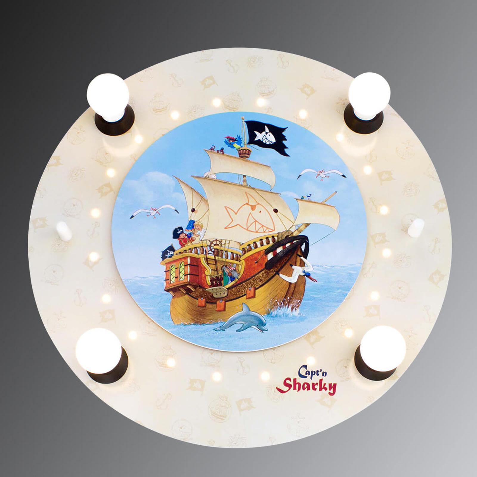 Capt'n Sharky plafondlamp met LED lichteffecten