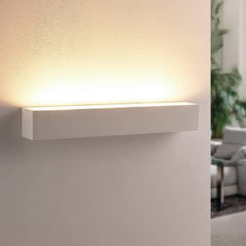 Vit LED-gipsvägg-uplight Santino, kantig