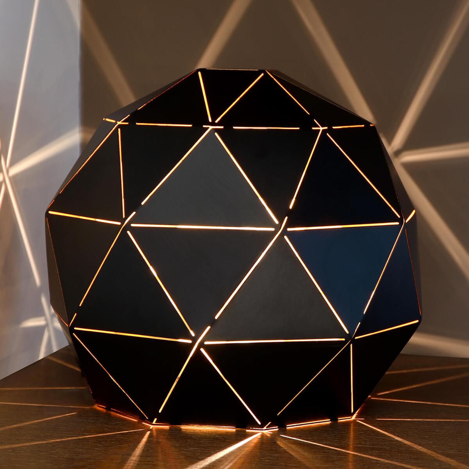 Lampe à poser Otona en métal noir