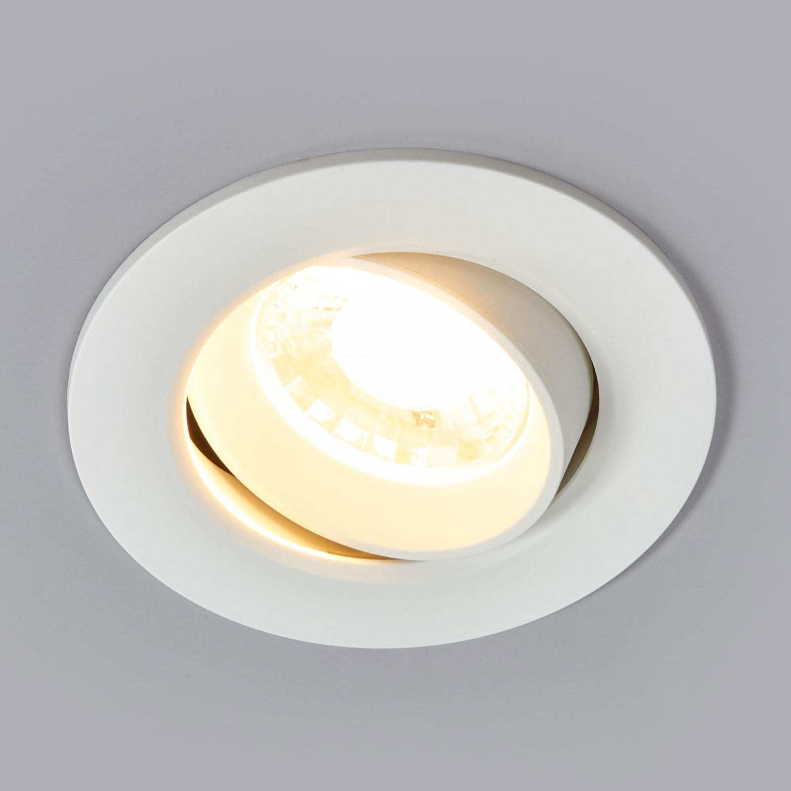 Hvid LED-indbygningsspot Quentin