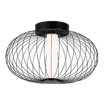 LED-taklampe Elli med burskjerm, svart