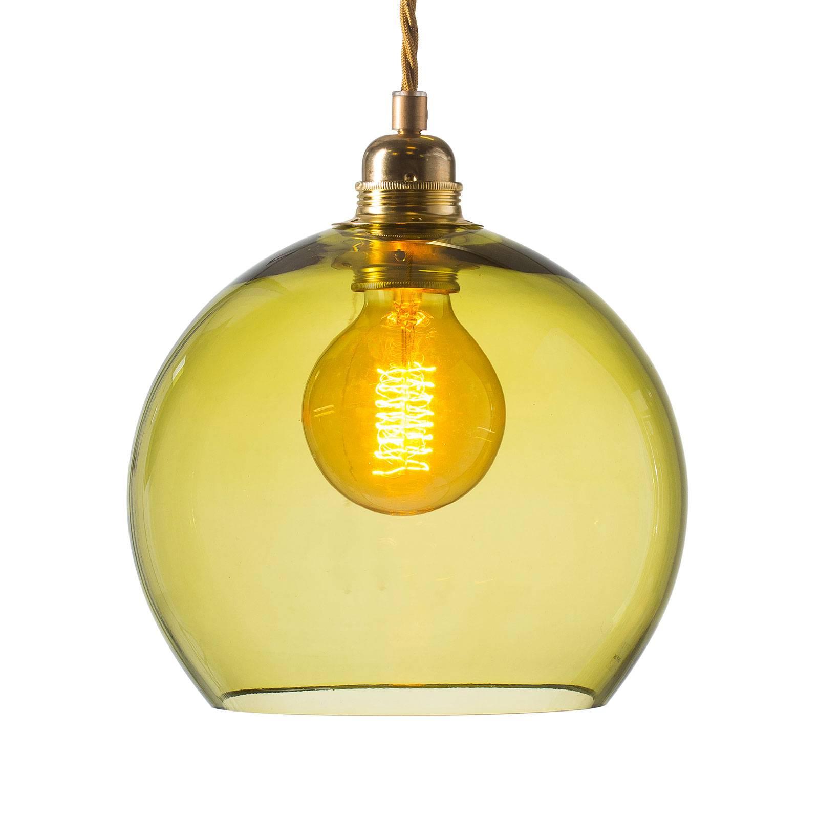 EBB & FLOW Rowan hanglamp goud/olijfgroen Ø 22cm