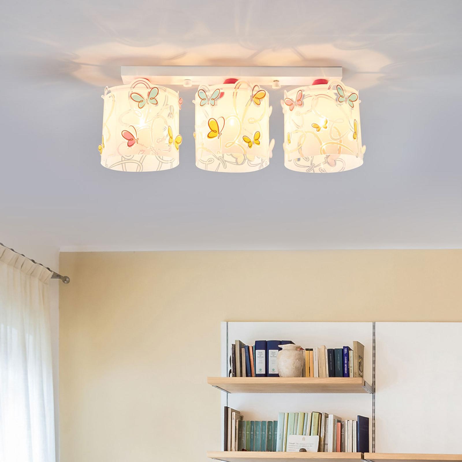 Plafondlamp Butterfly voor kinderkamer