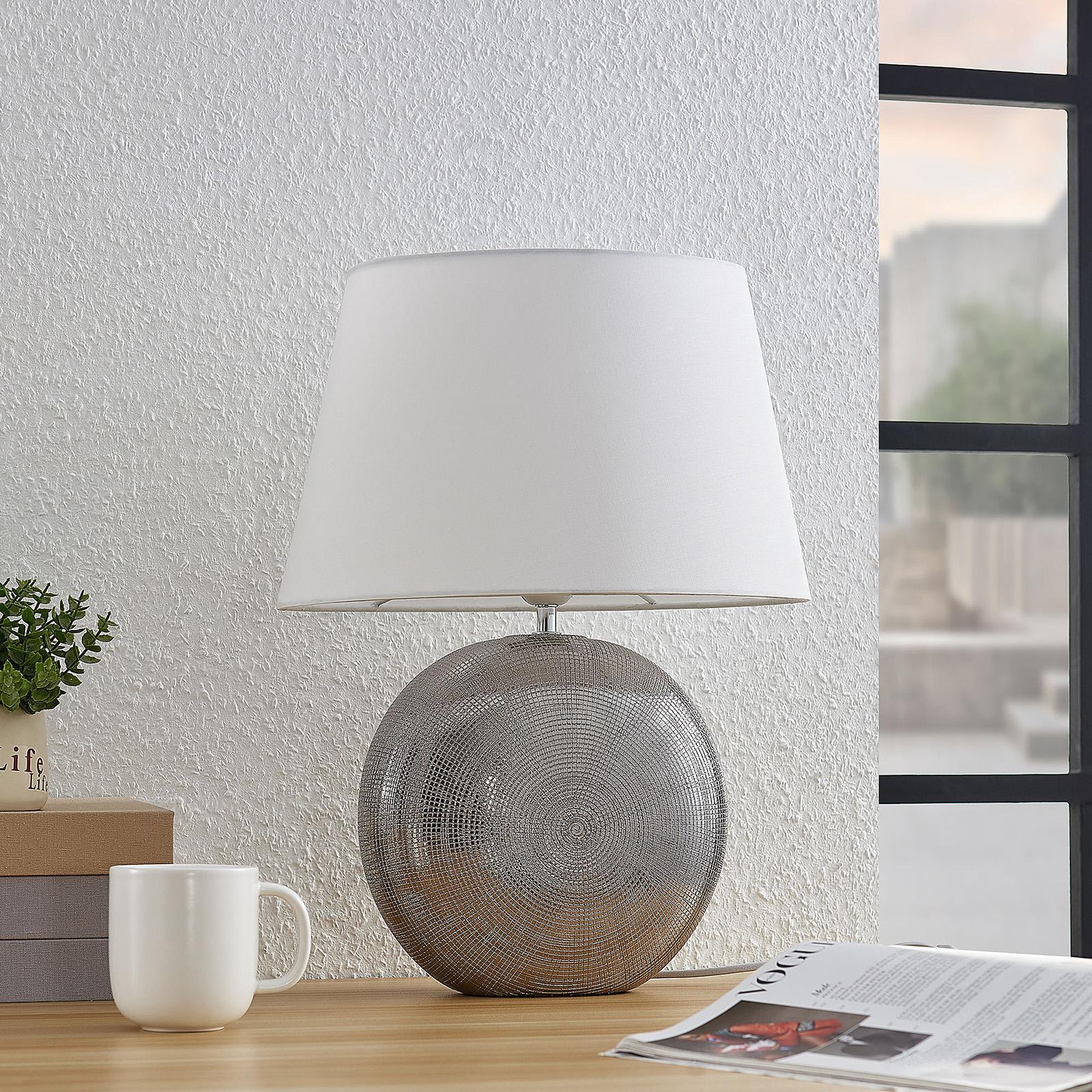 Lindby Florentino lampada da tavola, ceramica