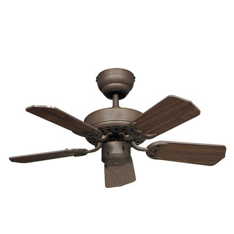 Stropní ventilátor Royal 75 starožitně hnědá/ořech