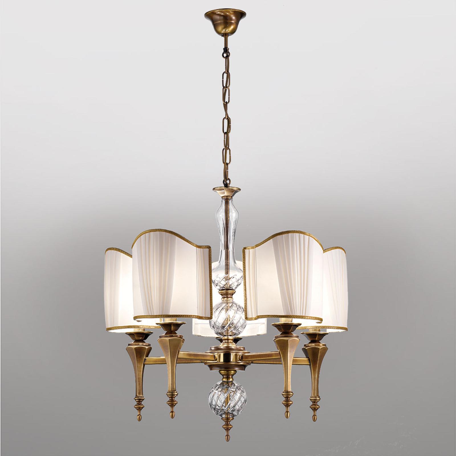 Anticky pôsobiaca závesná lampa Belle Epoque