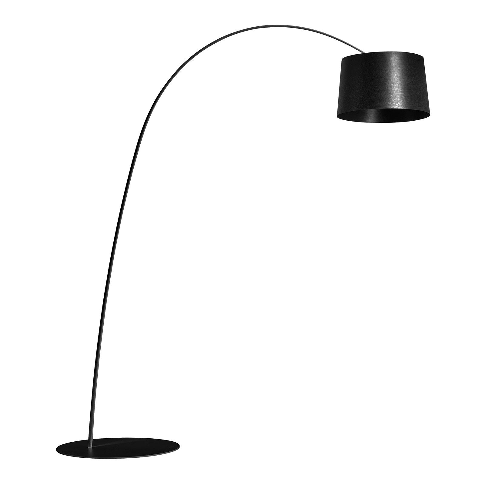Foscarini Twiggy lampadaire arqué LED, noire