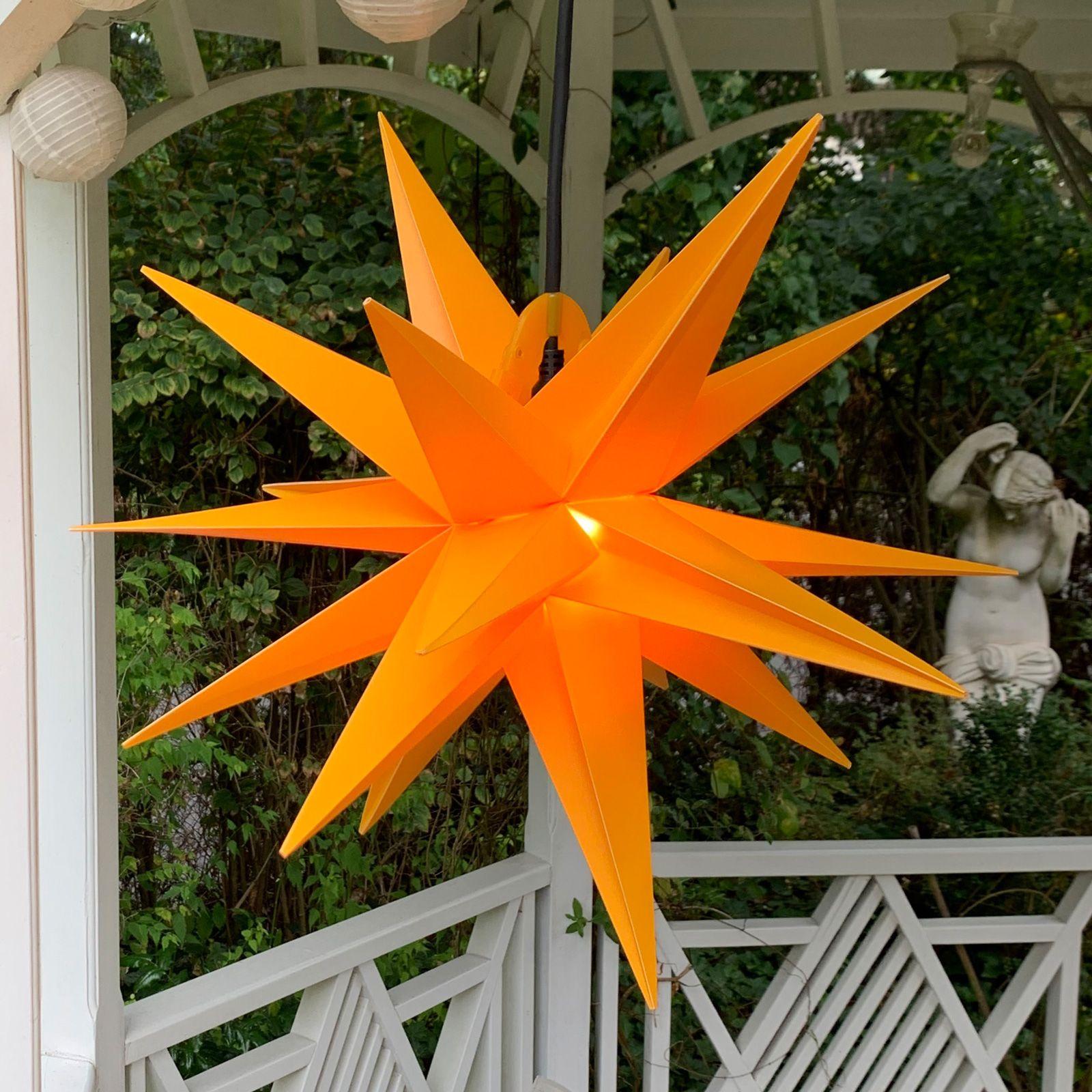 Dekorasjonstjerne utendørs, 18-spisser, Ø, 40 cm