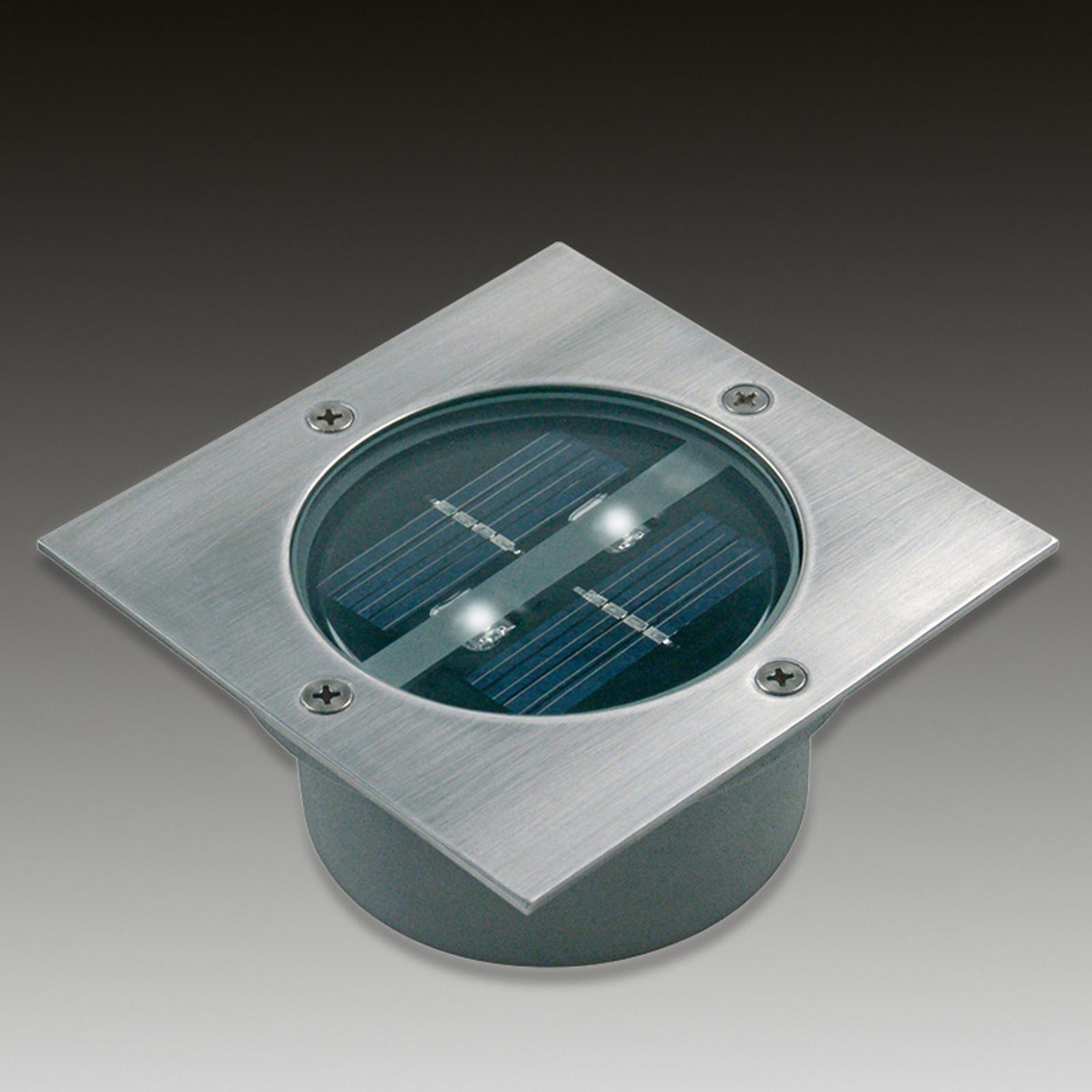 Firkantet Solar LED gulvmonteringsspot Lugo IP44
