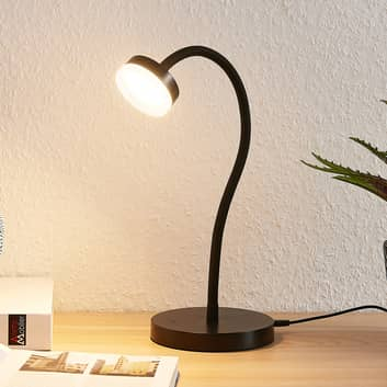 Lindby Dariel LED-bordlampe, sort