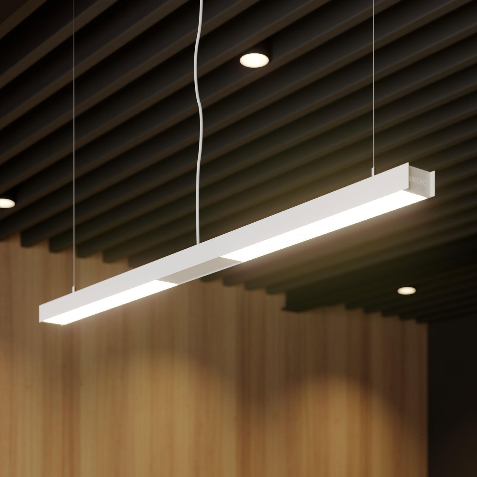 Arcchio Rontan suspension pour bureau LED, blanche