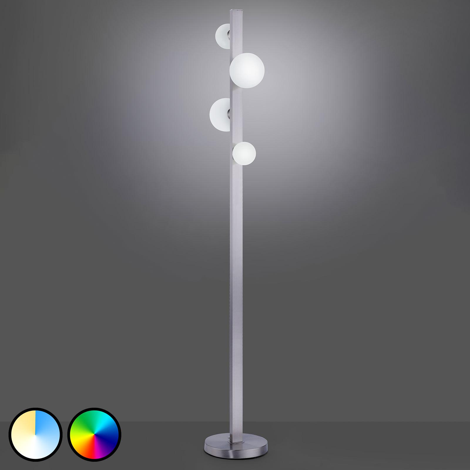 Trio WiZ Dicapo lampadaire LED, à 4 lampes
