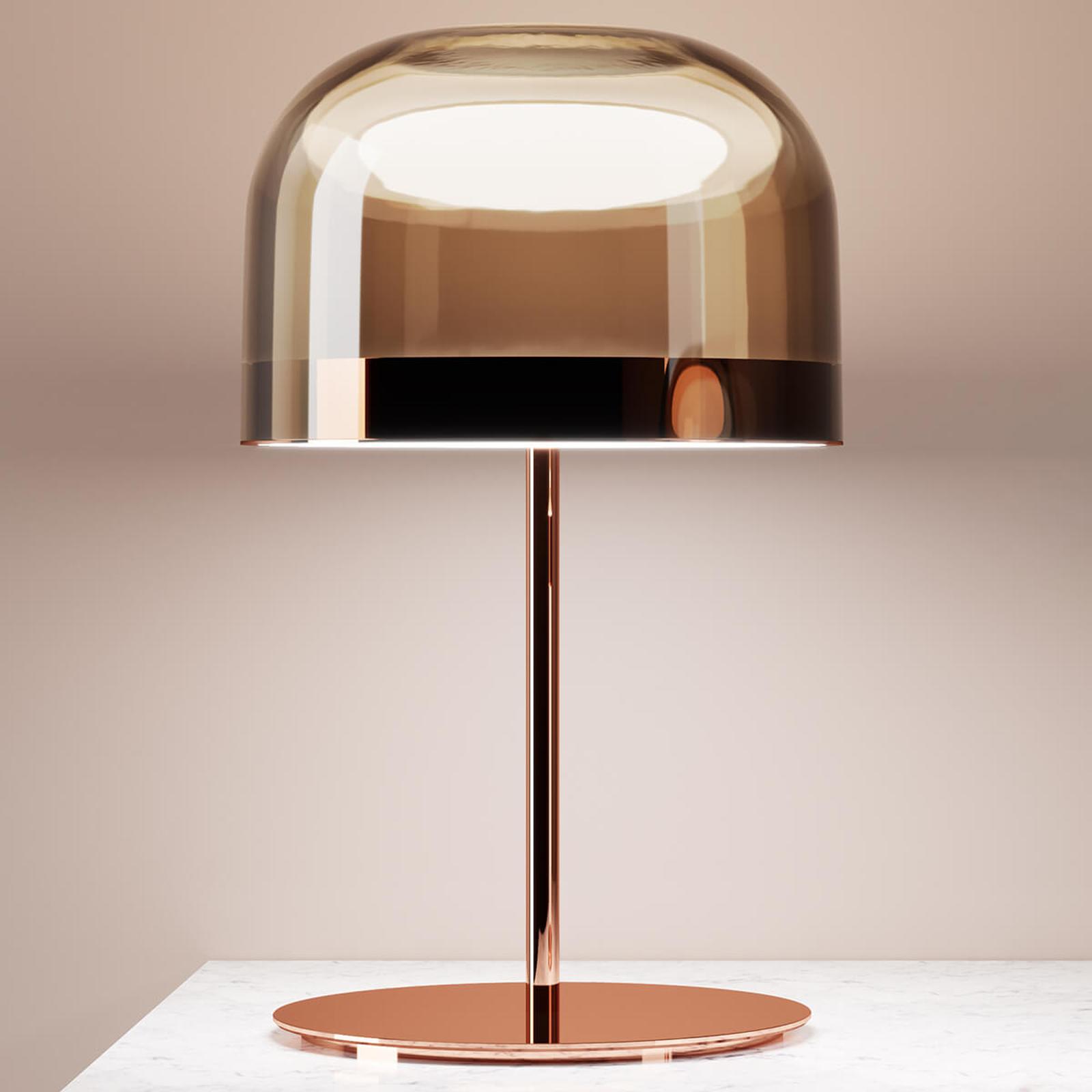 Lampa stołowa LED Equatore w miedzi, 60 cm