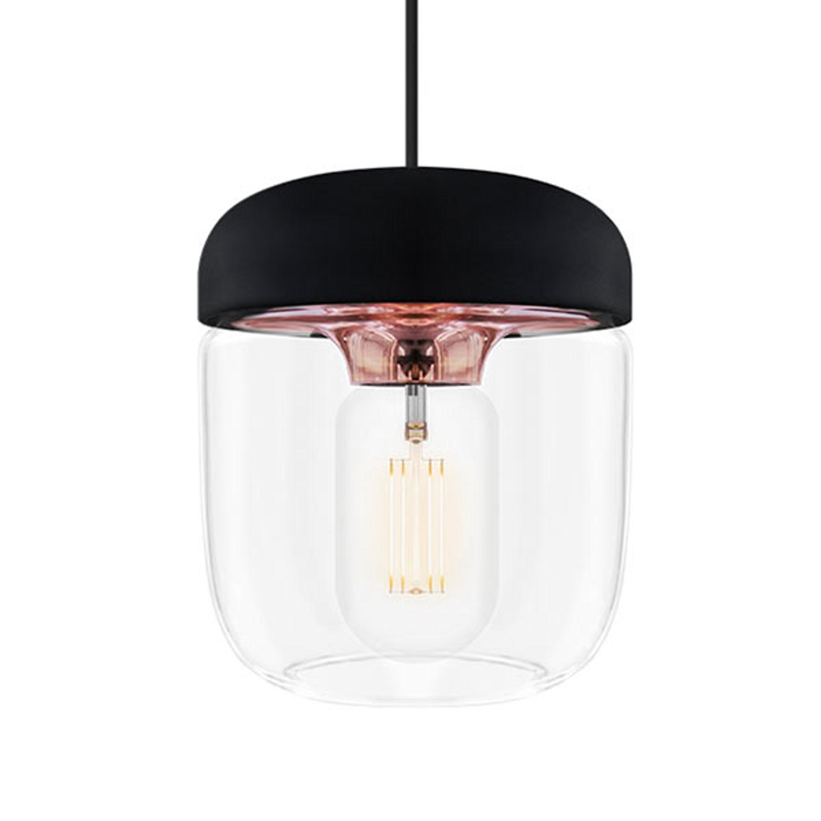 Modna lampa wisząca Acorn, czerń i miedź