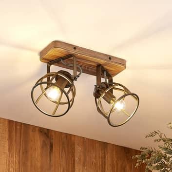 Lindby Rutger faretto soffitto, 2 luci