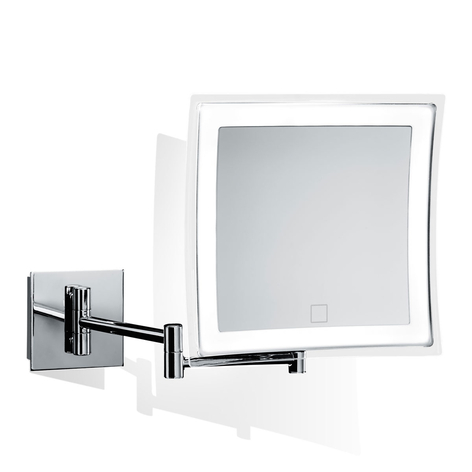 Decor Walther BS 85 Touch miroir mural LED carré