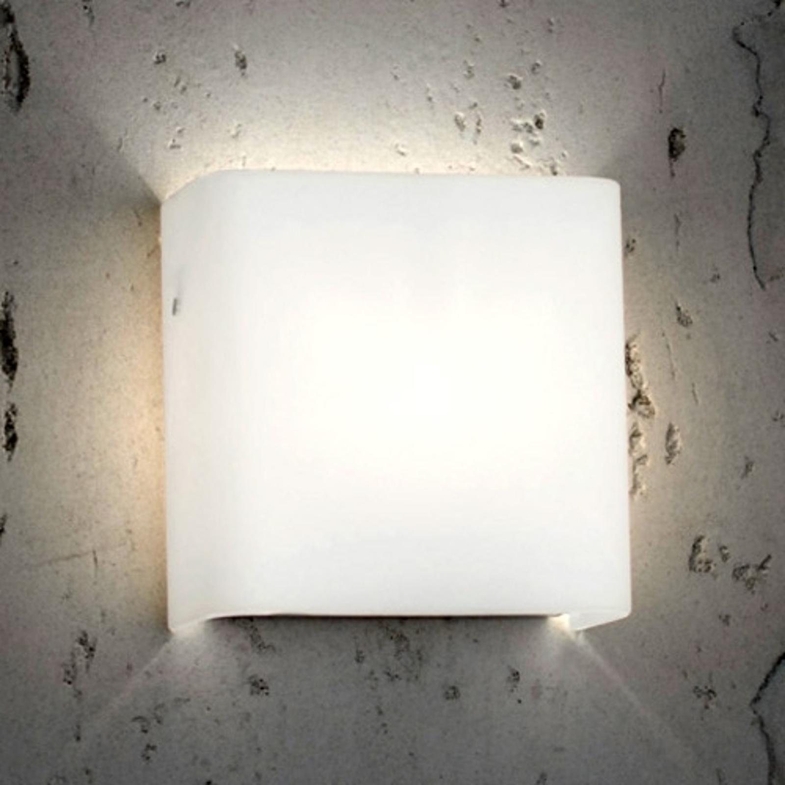 Casablanca Radius - væglampe af opalglas, G9