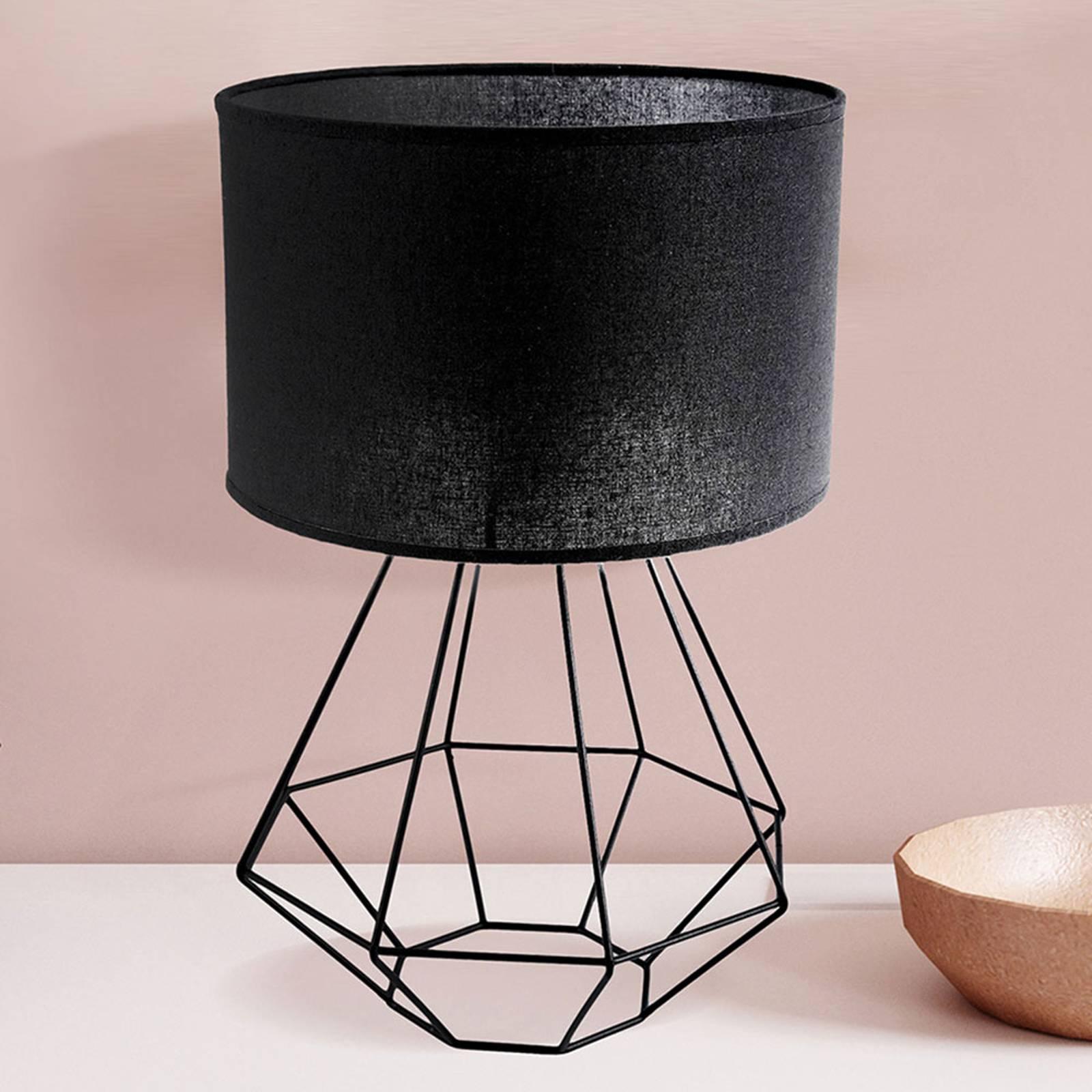 Tafellamp Alessio, zwart