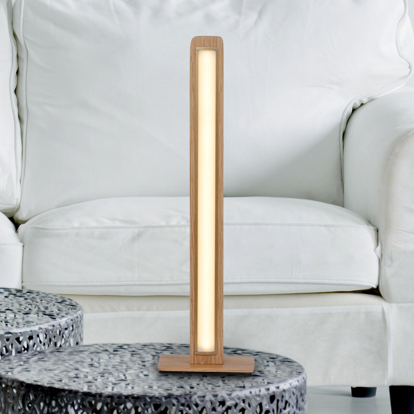 Lampe à poser LED Rovere en chêne canadien