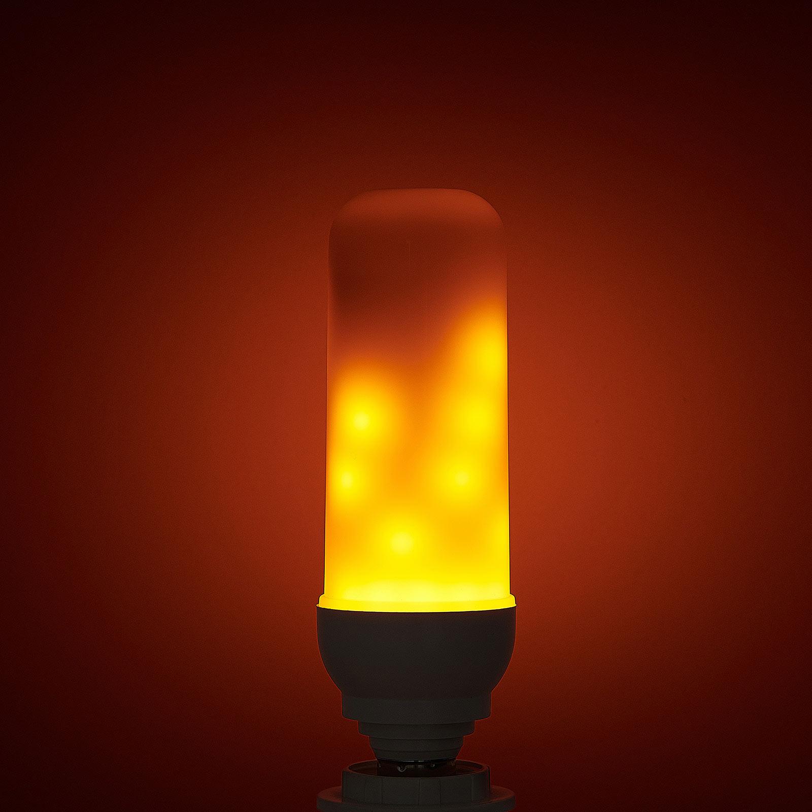 LED-lampa E14 3W Dancing Flame 1600K