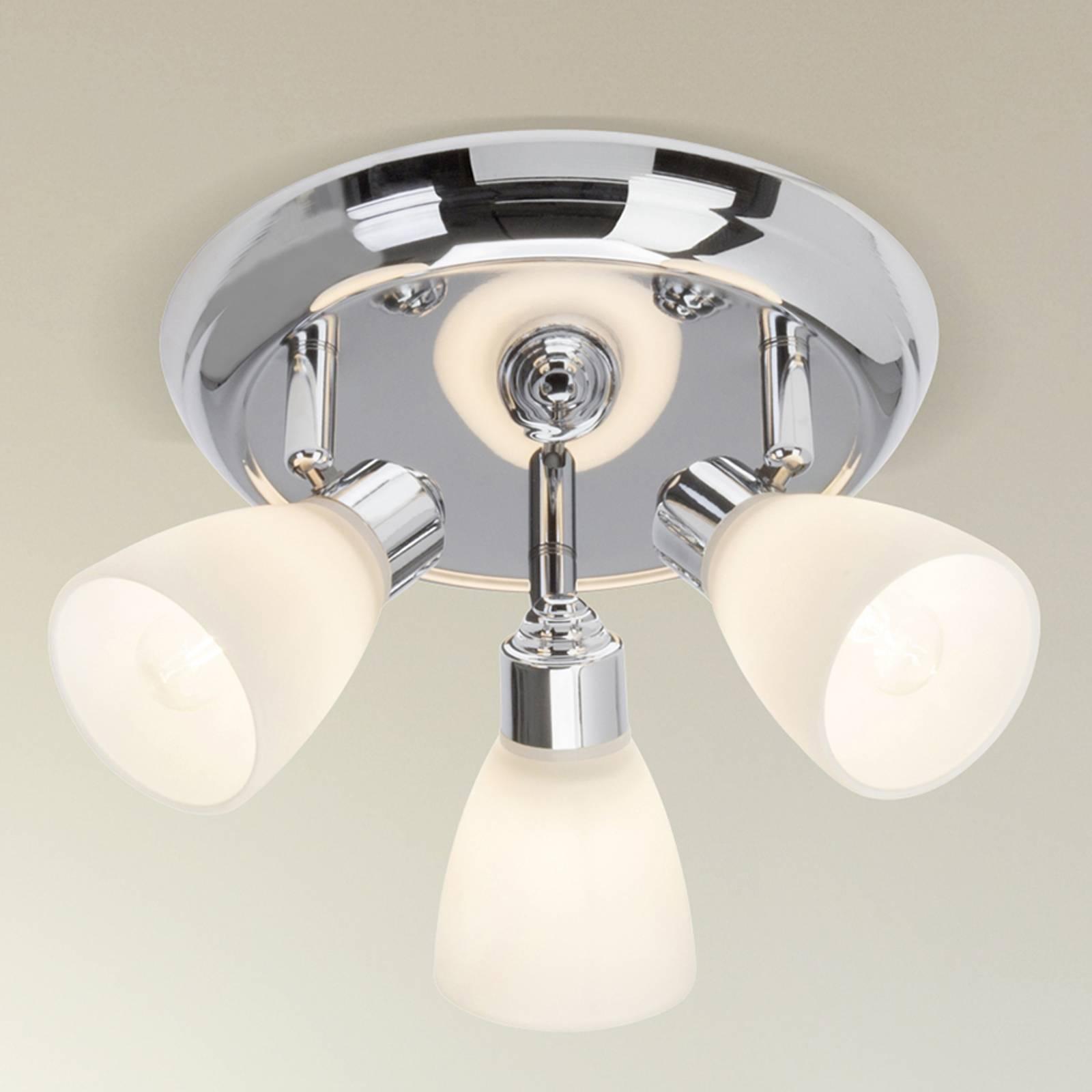 Kensington - drieflammige plafondlamp, chroom