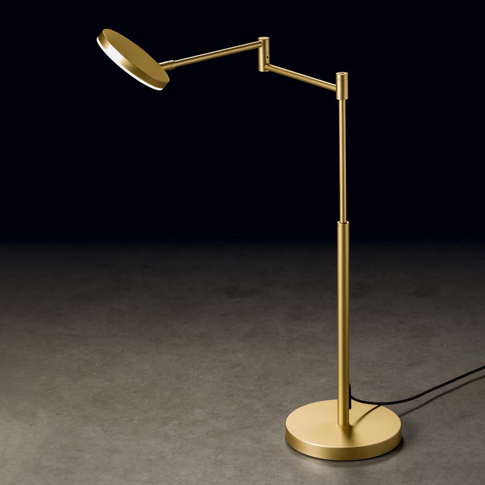Holtkötter Plano T LED-Tischlampe messing eloxiert