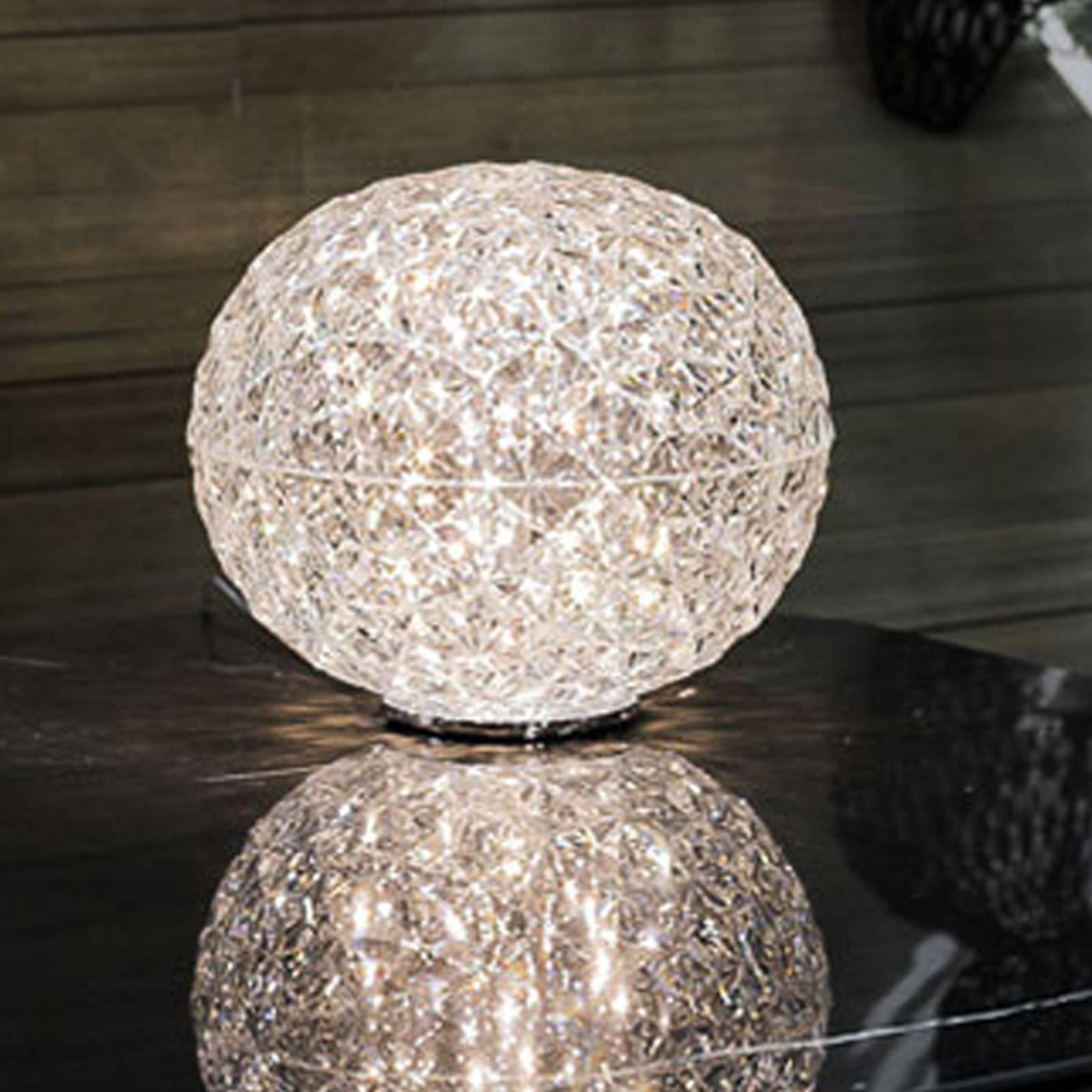 Kartell Planet LED-Tischleuchte Kugel, transparent