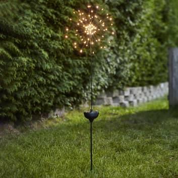 Lampa solarna LED Firework z grotem ziemnym