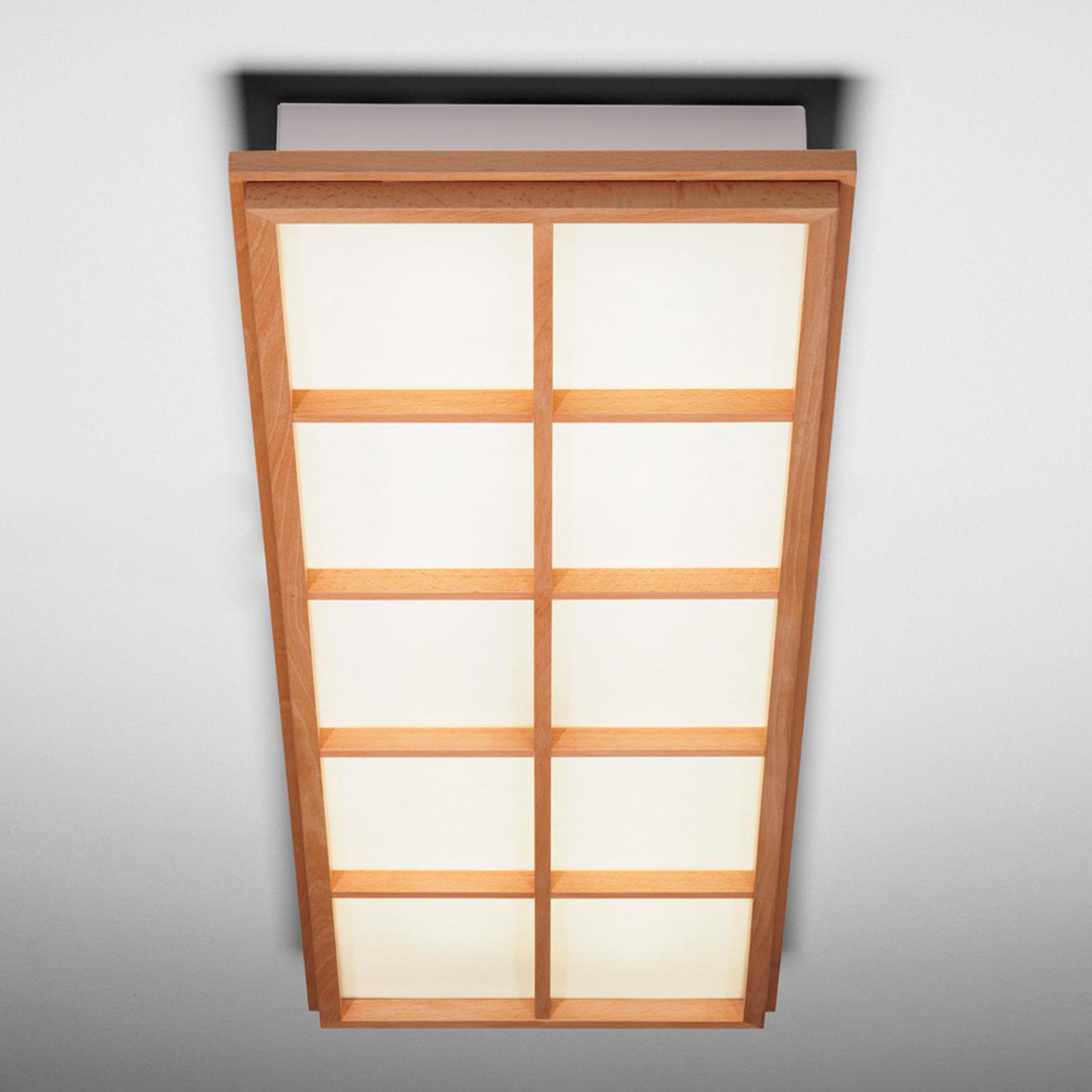 Lámpara de techo Kioto 10 de madera de haya