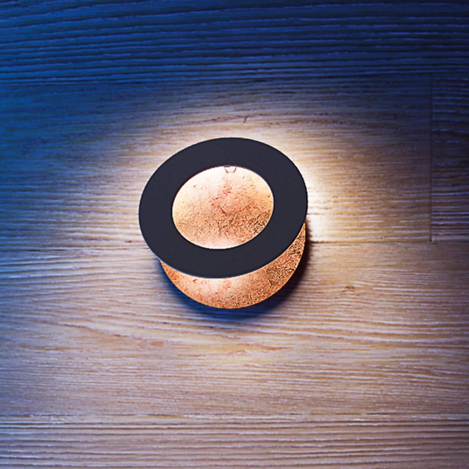 ICONE Vera 31 LED wandlamp, koper/zwart