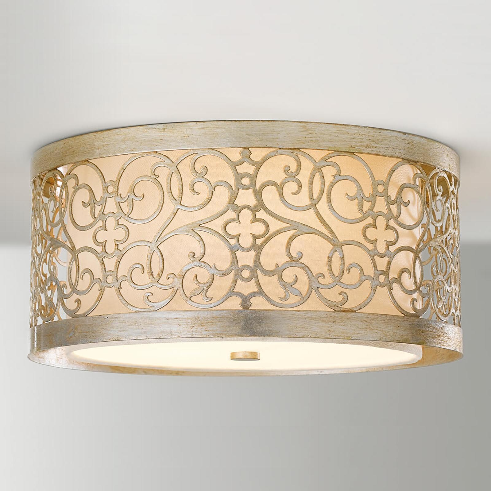 Arabesque taklampe med dobbel lampeskjerm