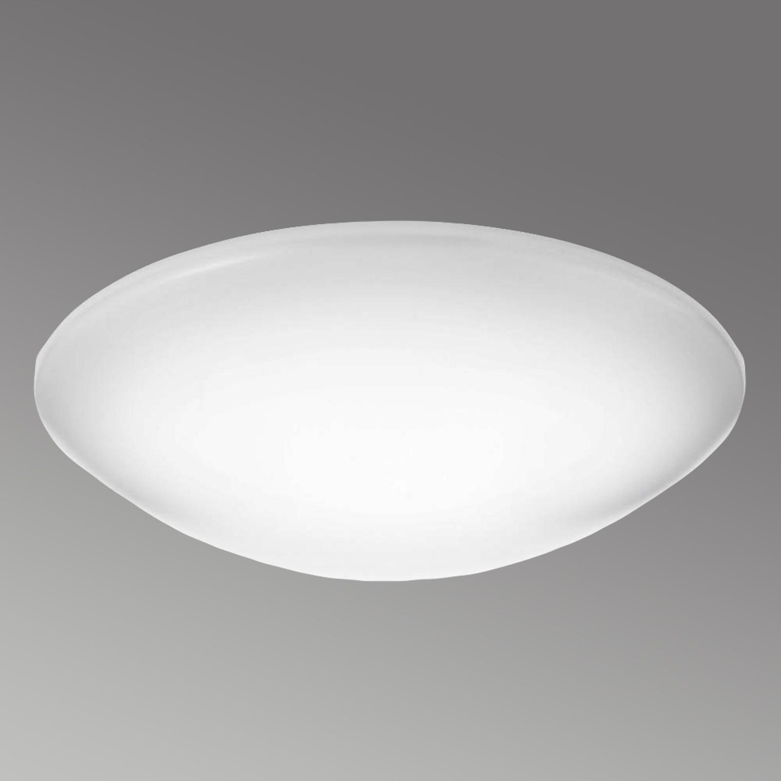 Duża lampa sufitowa LED Suede z tw. sztucznego