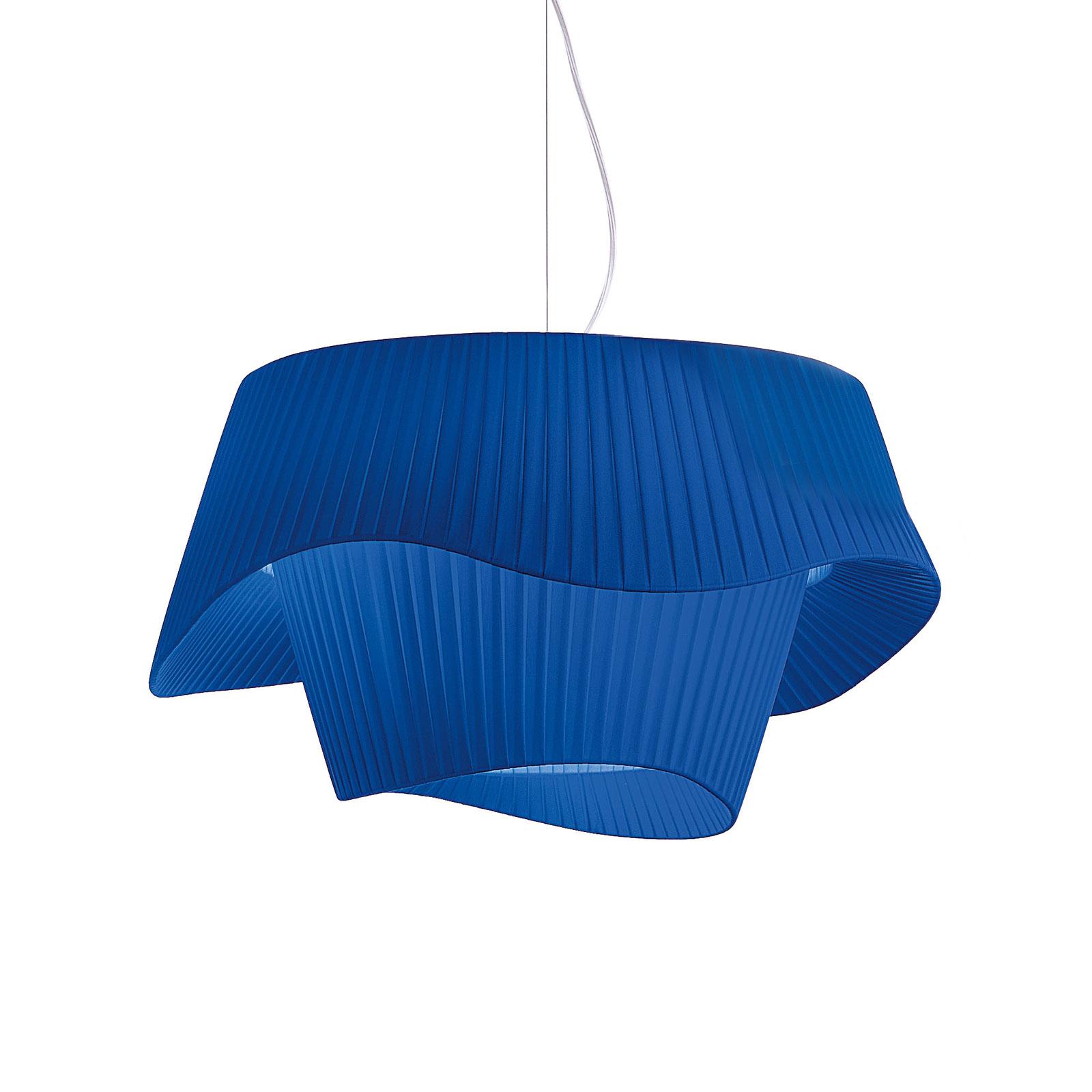 Modo Luce Cocó lámpara colgante textil Ø 60cm azul