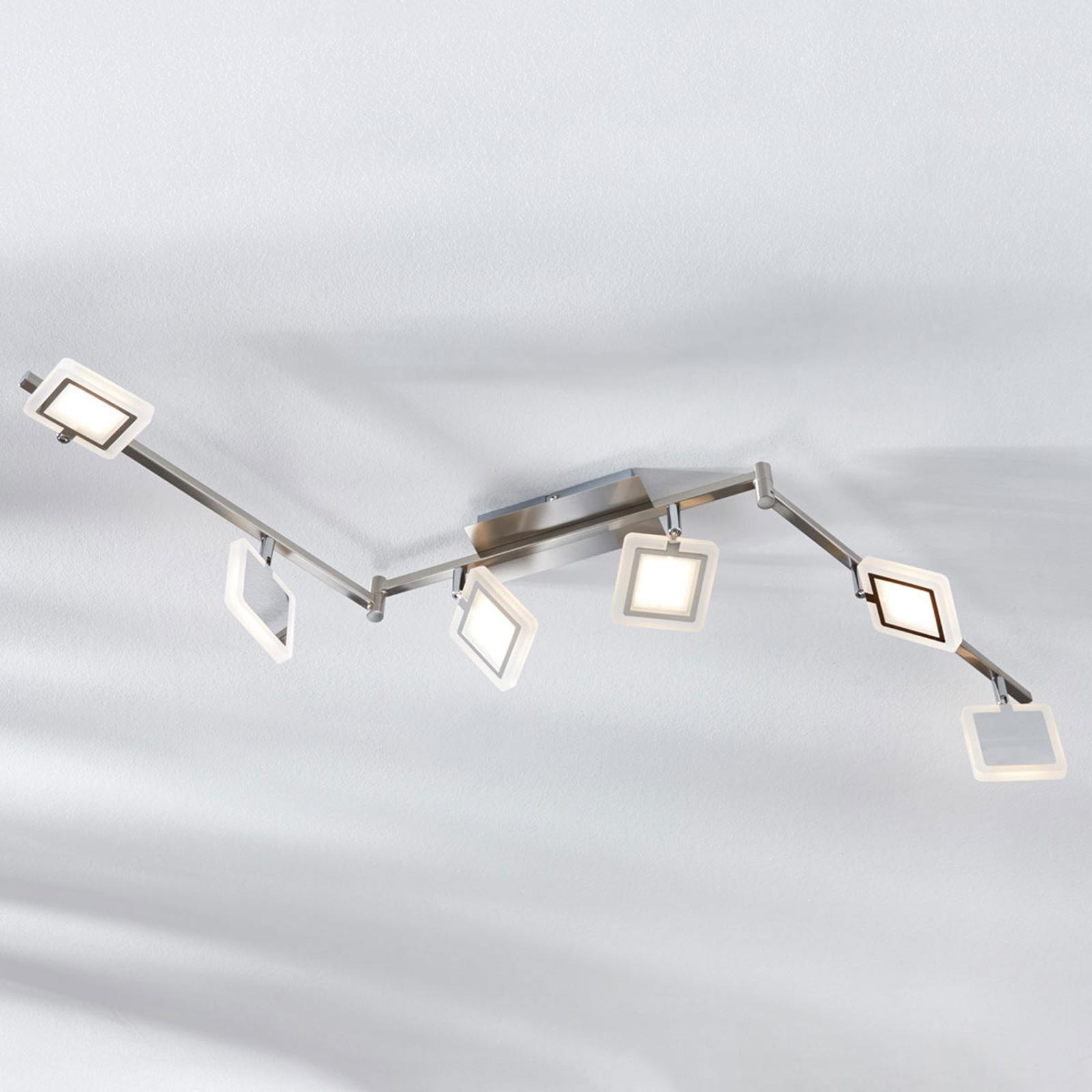 LED-Deckenstrahler Evelina, 6-flammig