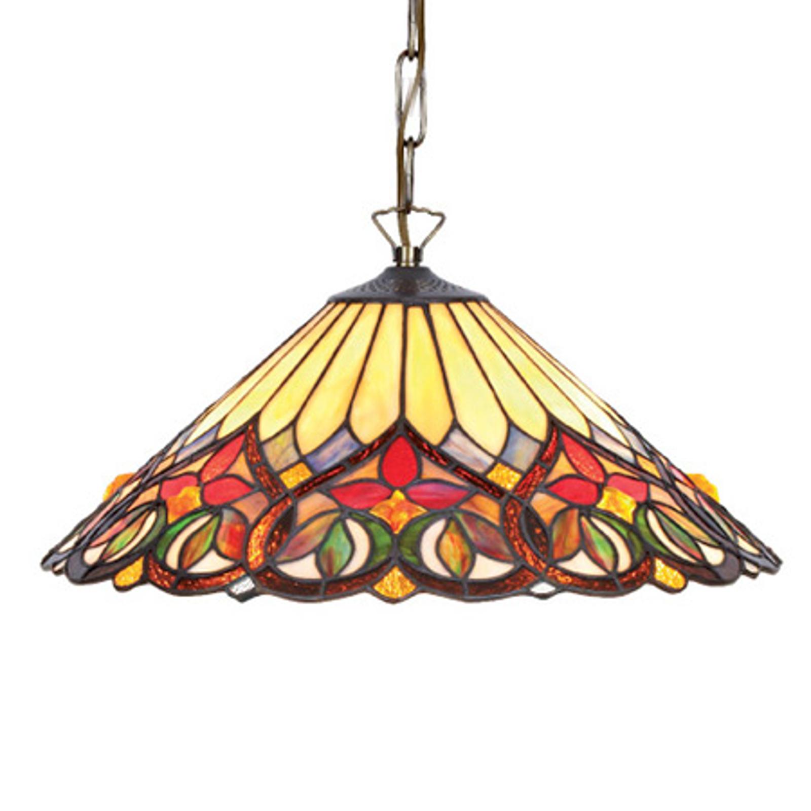 Kolorowa lampa wisząca ANNI w s. Tiffany
