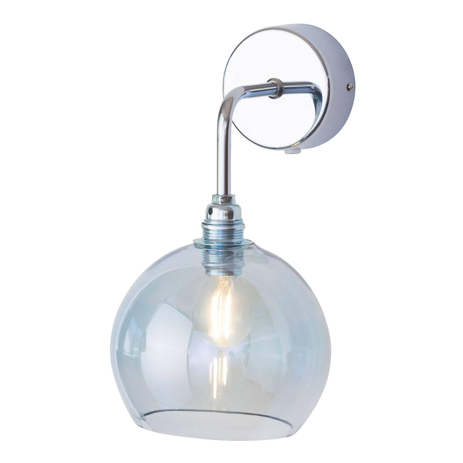 EBB & FLOW Rowan wandlamp zilver kap topaasblauw